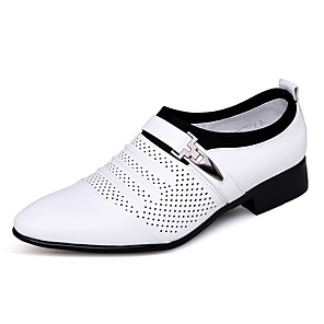 cheap Men's Oxfords-Men's Leather Shoes Summer Office & Career Oxfords PU White / Black
