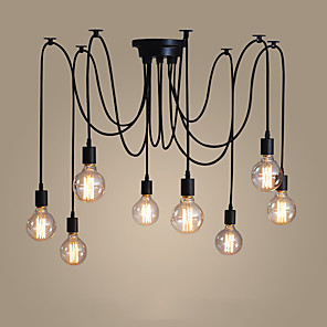 cheap Cluster Design-8-Light 120CM Candle Style Chandelier Metal Painted Finishes Modern Contemporary 110-120V / 220-240V