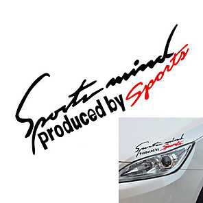 cheap Car Body Decoration & Protection-Black / Red / Red / White Car Stickers Sports Full Car Stickers Text / Number Stickers