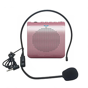 cheap Portable Speakers-Portable Loud Speaker Mini Voice Amplifier Microphone With USB TF Card FM Radio For Teacher Tour Guide Promotion
