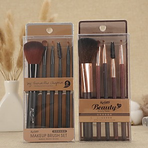 cheap Makeup Brush Sets-Professional Makeup Brushes 5PCS Full Coverage Plastic for Makeup Brush