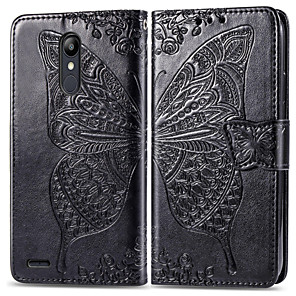 cheap Other Phone Case-Case For LG LG X Power 2 / LG V50 / LG Stylo 4 Card Holder / Magnetic / Auto Sleep / Wake Up Full Body Cases Solid Colored PU Leather / PC