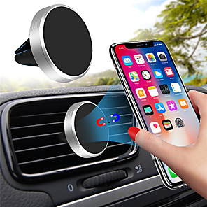 cheap Phone Mounts & Holders-Universal Magnetic Mobile Phone Holder for iPhone X Samsung Huawei Car GPS Ventilation Magnet Bracket