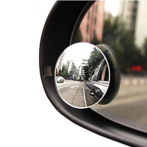 cheap Car Charger-2pcs car mirror 360 wide angle round convex vehicle car mirror side armored blind spot small mirror round rear mirror