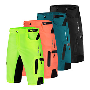 cheap Rugs-WOSAWE Men's Cycling Shorts Cycling MTB Shorts Spandex Bike Pants / Trousers MTB Shorts Bottoms Breathable Quick Dry Moisture Wicking Sports Black / Orange / Green Mountain Bike MTB Road Bike Cycling