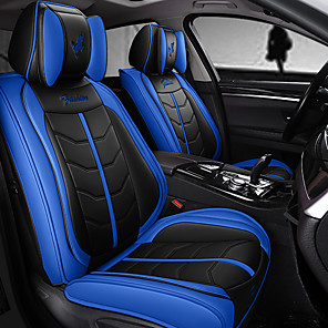 cheap Steering Wheel Covers-5Pcs / Set Five Car Seat Cushions Four Seasons GM Full Package Car Seat Covers New Type Seat Cushion Compatible With Airbag.