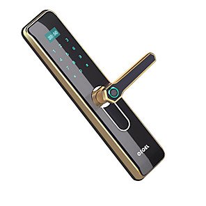cheap Video Door Phone Systems-Factory OEM R186 Zinc Alloy lock / Fingerprint Lock / Intelligent Lock Smart Home Security Android System Fingerprint unlocking / Password unlocking Home / Office / Hotel Wooden Door (Unlocking Mode