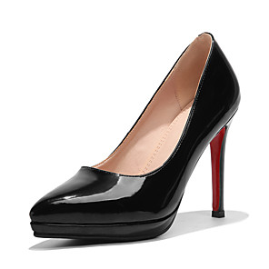 cheap Men's Sandals-Women's Heels Stiletto Heel Pointed Toe Patent Leather / PU Classic / British Spring &  Fall Black / Pink / Wedding / Party & Evening