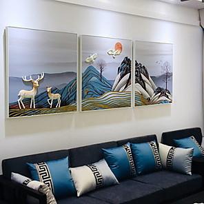 cheap Wall Stickers-Prints - Still Life Acrylic Oil Painting Wall Art
