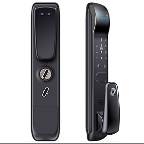 cheap Door Locks-Factory OEM D-F5 Zinc Alloy lock / Fingerprint Lock / Intelligent Lock Smart Home Security Android System RFID / Fingerprint unlocking / Password unlocking Home / Office / Hotel Wooden Door