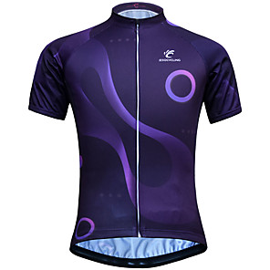 cheap Cycling Jerseys-JESOCYCLING Women's Short Sleeve Cycling Jersey Purple Bike Jersey Mountain Bike MTB Road Bike Cycling Breathable Quick Dry Anatomic Design Sports Clothing Apparel / Stretchy / Back Pocket