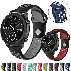 cheap Smartwatch Bands-Sport Silicone Watch Band Wrist Strap for Xiaomi Huami Amazfit GTR 42mm / Amazfit Bip Youth / Samsung Galaxy Watch 42mm Bracelet Replaceable Wristband