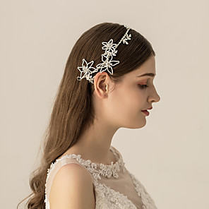 cheap Earrings-Rhinestone / Alloy Headbands / Headdress with Rhinestone / Sparkling Glitter / Floral 1pc Wedding / Party / Evening Headpiece