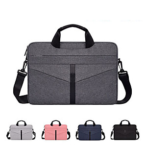 cheap Laptop Bags & Backpacks-13.3 Inch Laptop / 14 Inch Laptop / 15.6 Inch Laptop Shoulder Messenger Bag / Briefcase Handbags Polyester Solid Color Unisex Waterpoof Shock Proof
