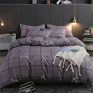 cheap Solid Duvet Covers-Duvet Cover Sets Solid Colored / Contemporary Polyster Printed 4 PieceBedding Sets