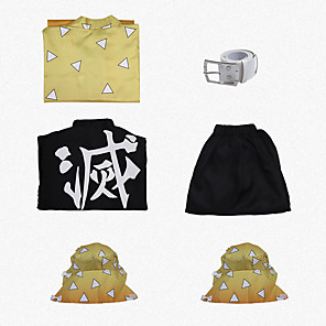 cheap Anime Costumes-Inspired by Demon Slayer: Kimetsu no Yaiba Cosplay Anime Cosplay Costumes Japanese Cosplay Suits Size S sleeve measures 58 cm (Sleeve length increases 1 cm with each size up) 55cm 60cm Coat Top Pants