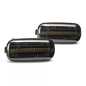 cheap Warning Lights-2PCS Dynamic Flowing LED Side Marker Lights Turn Signal Lamp for Audi A4 S4 B6 B7 A6 C5 TT A8