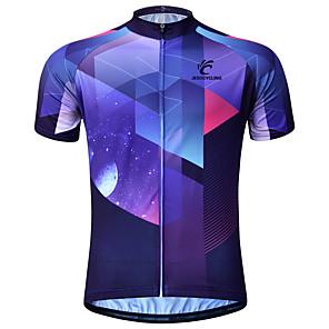 cheap Cycling Jerseys-JESOCYCLING Men's Short Sleeve Cycling Jersey Purple Bike Jersey Mountain Bike MTB Road Bike Cycling Breathable Quick Dry Anatomic Design Sports Clothing Apparel / Stretchy / Back Pocket