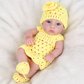 cheap Reborn Doll-NPK DOLL 12 inch Reborn Doll Reborn Toddler Doll Baby Boy Baby Girl Safety Gift Cute Full Body Silicone with Clothes and Accessories for Girls' Birthday and Festival Gifts / Kids