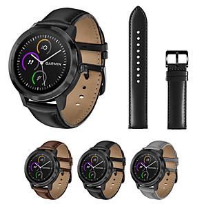 cheap Smartwatch Bands-Genuine Leather Watch Band Wrist Strap for Garmin Vivoactive 3 / Vivomove HR / Forerunner 645 / Forerunner 245 / 245M / Vivomove Bracelet Replaceable Wristband