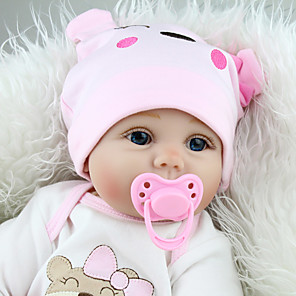 cheap Reborn Doll-NPK DOLL 22 inch NPK DOLL Reborn Doll Girl Doll Reborn Toddler Doll Baby Girl Reborn Toddler Doll Reborn Baby Doll Newborn lifelike Gift Cloth 3/4 Silicone Limbs and Cotton Filled Body with Clothes