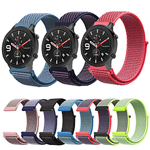 cheap Smartwatch Bands-Woven Nylon Watch Band Wrist Strap for Xiaomi Huami Amazfit GTR 47mm / Amazfit Stratos 2 2S / Amazfit Pace Smart Watch Bracelet Wristband Replaceable Accessories