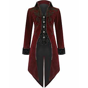 cheap Anime Costumes-Men's Blazer Color Block Wine US36 / UK36 / EU44 / US38 / UK38 / EU46 / US40 / UK40 / EU48