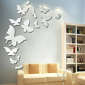 cheap Wall Stickers-3D Wall Stickers Mirror Wall Stickers Decorative Wall Stickers, Acrylic Home Decoration Wall Decal Wall Decoration 1pc