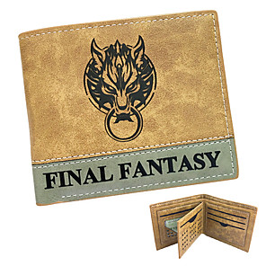 cheap Videogame Cosplay Accessories-Bag / Wallets Inspired by Final Fantasy Cosplay Anime/ Video Games Cosplay Accessories Wallet Yellow Patent Leather / PU LeatherMale /