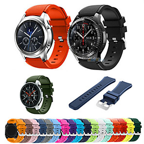 cheap Smartwatch Bands-22mm Silicone Sport Strap For Samsung Galaxy Watch 46mm Gear S3 Frontier / Classic