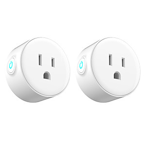 cheap Smart Plug-2 Pack Smart Plug  for Living Room / Study / Bedroom APP Control / Timing Function / Smart WIFI 110-150 V Smart Sokcet two Pack-US PLUG