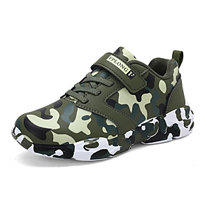 cheap Kids' Boots-Boys' Comfort PU Trainers / Athletic Shoes Big Kids(7years +) Walking Shoes Green / Gray Fall / Rubber