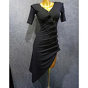 cheap Latin Dancewear-Latin Dance Dress Ruching Women's Performance Fiber