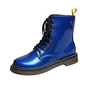 cheap Women's Boots-Women's Boots Low Heel Round Toe Rhinestone PU Mid-Calf Boots Casual Walking Shoes Fall & Winter Black / Purple / Champagne
