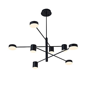 cheap Chandeliers-8-Light 8 Lights LED Industrial Chandelier/ Ambient Light Black Painted for Living Room Bedroom 110-120V/ 220-240V / Warm White/ White