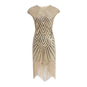 cheap Historical & Vintage Costumes-Latin Dance Dance Costumes Dress Tassel Paillette Women's Party Performance Sleeveless Terylene Polyester Taffeta