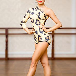 cheap Latin Dancewear-Latin Dance Leotard / Onesie Pattern / Print Ruching Women's Training Polyester