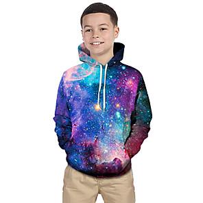 cheap Gaming Headsets-Kids Toddler Boys' Active Basic Fantastic Beasts Geometric Galaxy Print Print Long Sleeve Hoodie & Sweatshirt Purple