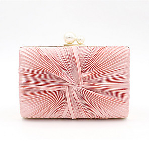 cheap Clutches & Evening Bags-Women's Pearls Polyester Evening Bag Solid Color Blushing Pink