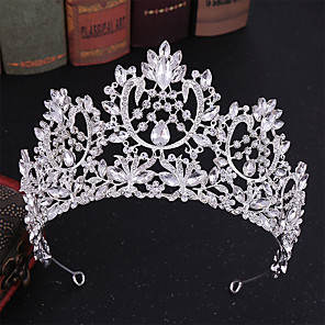 cheap Earrings-Alloy Tiaras / Headdress / Headpiece with Sparkling Glitter / Glitter 1pc Wedding Headpiece