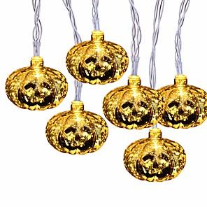 cheap LED String Lights-Halloween String Lights 2m 10 LED Glittering Jumbo Pumpkin Bulbs Decoration Lights for Outdoor Indoor Halloween Christmas Party Festival