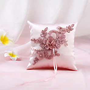 cheap Jewelry Sets-Cloth Floral Nonwovens Ring Pillow Garden Theme / Pillow / Wedding All Seasons