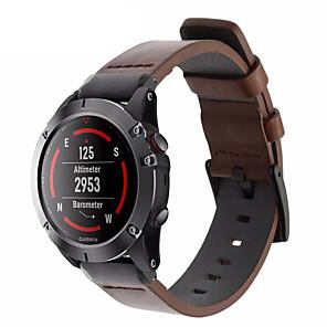 cheap Tattoo Stickers-Leather Watch Band Wrist Strap For Garmin Fenix 6 Pro / Fenix 5 Plus / Approach S60 / Forerunner 935 / Quatix 5 Quick Release Bracelet Wristband