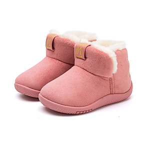 cheap Women's Heels-Boys' / Girls' Comfort / Snow Boots Suede Boots Toddler(9m-4ys) Walking Shoes Camel / Black / Pink Winter / Rubber