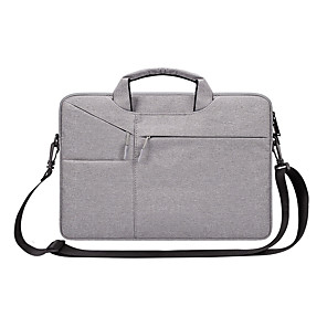 cheap Sleeves,Cases & Covers-13.3 Inch Laptop / 14 Inch Laptop / 15.6 Inch Laptop Sleeve / Shoulder Messenger Bag / Briefcase Handbags Nylon Fiber Solid Color / Textured for Business Office for Colleages & Schools Waterpoof