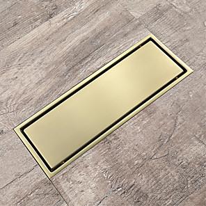 povoljno Tuš s kišnim mlazom-od brušenog zlata odvod sus304 ugradbeni 30x11cm pločica umetnuti kupatila otpadna vrata