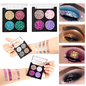 cheap Eyeshadows-Four-color shaped onion powder waterproof durable sequins eye shadow stage makeup cosmetics