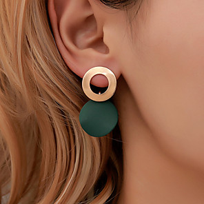 cheap Necklaces-Women's Earrings Geometrical Ball Earrings Jewelry Black / Light Coffee / White For Holiday 1 Pair