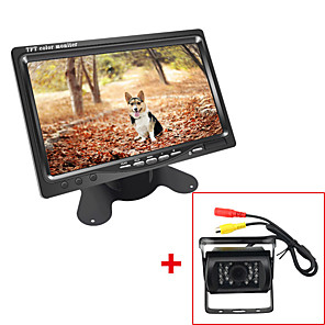 cheap Car Rear View Camera-DC Bus Truck 7 LCD Monitor with Rear View Parking HD Camera Video System