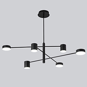 cheap Globe Design-6-Light 6 Lights LED Industrial Chandelier/ Ambient Light Black Painted for Living Room Bedroom 110-120V/ 220-240V / Warm White/ White